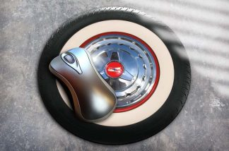 1957 chevrolet wheel mousemat