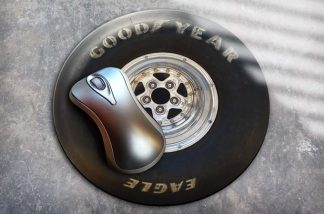 goodyear dragster wheel mousemat
